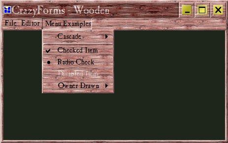 CrazyForms wooden style
