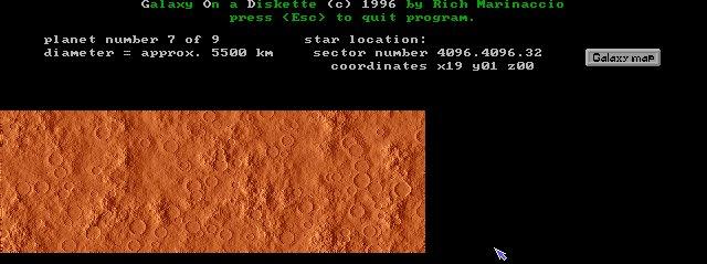 Marslike planet map