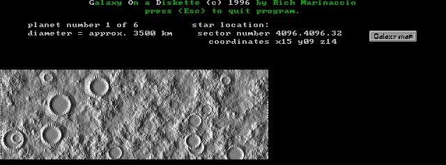 Moonlike planet map